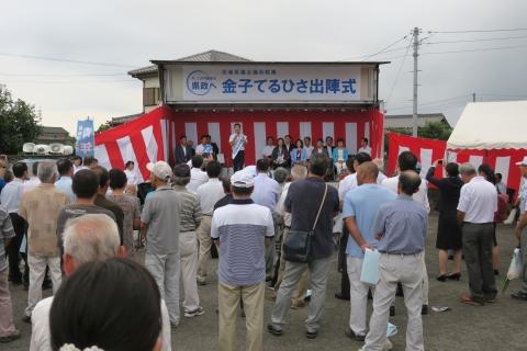 「金子てるひさ出陣式&大井川かずひこ演説会」①