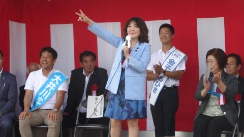 「金子てるひさ出陣式&大井川かずひこ演説会」⑨