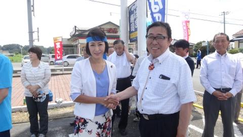 「三原じゅんこ応援街頭演説」鉾田市⑤