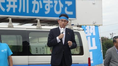 「大井川かずひこ街頭演説会」8月25日②