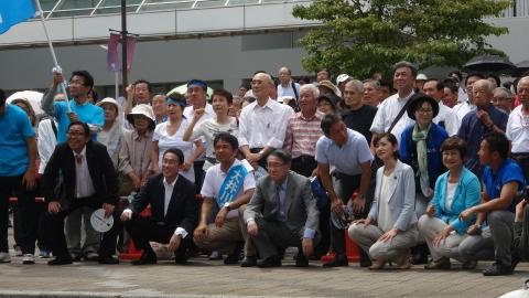 「大井川かずひこ街頭演説会」8月25日⑥