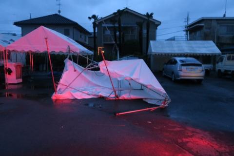 「テントが飛んでしまいました!」①
