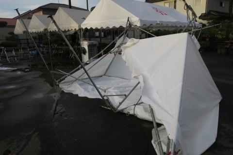 「テントが飛んでしまいました!」③