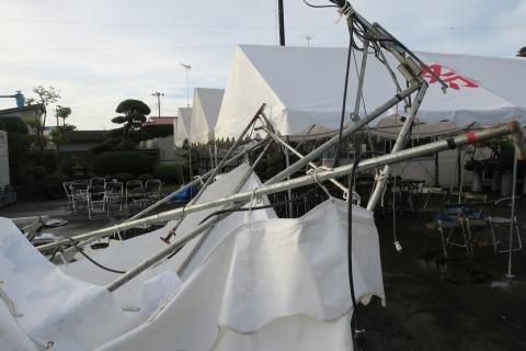 「テントが飛んでしまいました!」⑤
