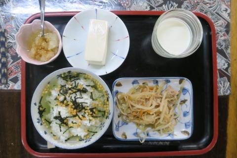 「お茶漬け朝食」①
