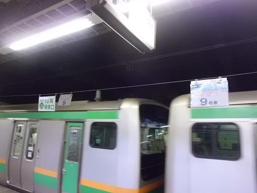寝台列車の乗車位置