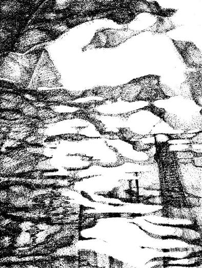 水中の模写