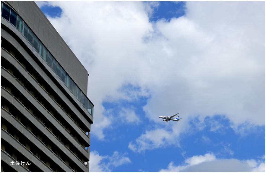大阪城公園・飛行機1