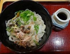 13:42 山菜そば 720円