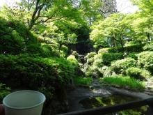 10:08 銀龍閣の中で見える庭