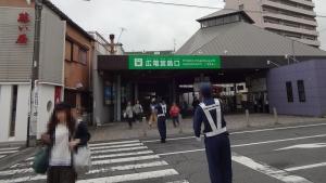 8:11 広電宮島口到着