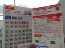 12:01 一日乗車乗船券にロープウェイ乗車で判を頂きました。