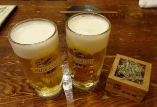 19:02 ビール×2杯 クーポンでGet!