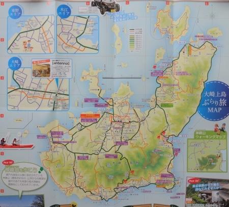 大崎上島のマップ