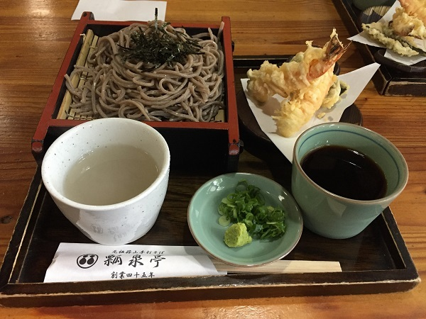 『瓢泉亭』の天ざる蕎麦