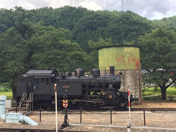 若桜鉄道 若桜駅に置かれている蒸気機関車C12