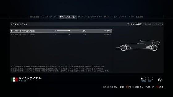 f12019 セッティング