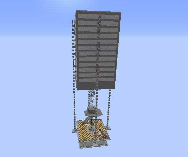 大型天空トラップタワー作った!、600.500
