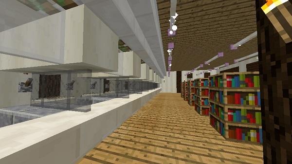 600.337、図書館1階、入り口から