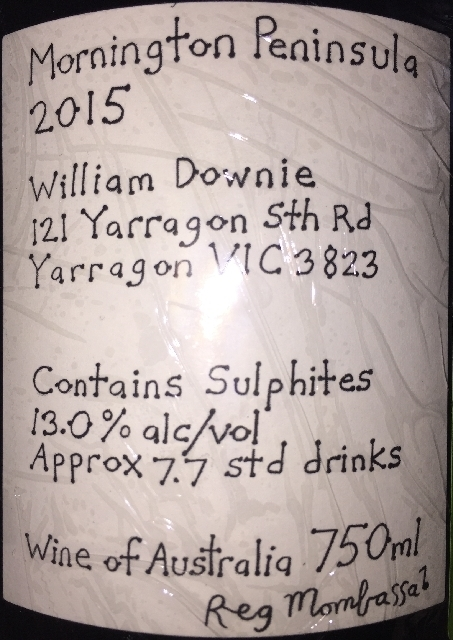 Mornington Peninsula Pinot Noir William Downie 2015 part2