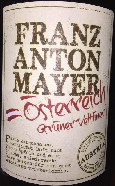 Franz Anton Mayer Gruner Veltliner 2015 part1