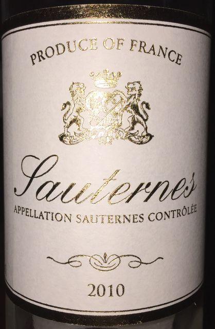 Sauternes Sichel 2010 part1