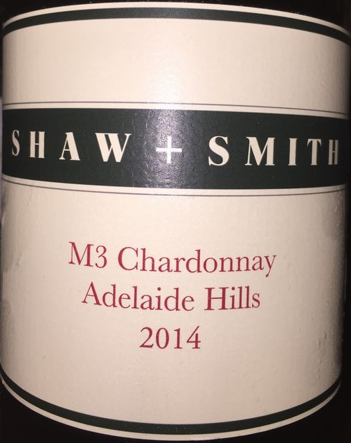 M3 Chardonnay Shaw  Smith Adelaide Hills 2014 part1