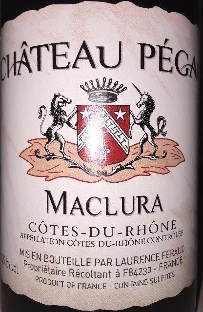 Chateau Pegau Maclura Cotes du Rhone Rouge 2016