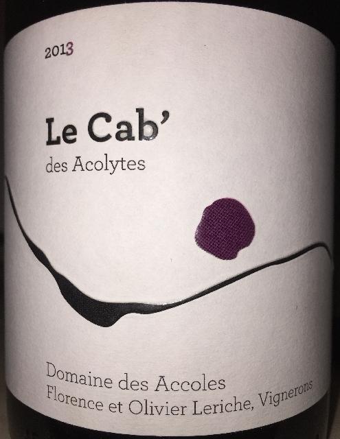 Le Cab des Acolytes Domaine des Accoles 2013