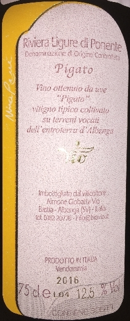 Riviera Ligure di Ponente Pigato MaRene bioVio 2015 part2