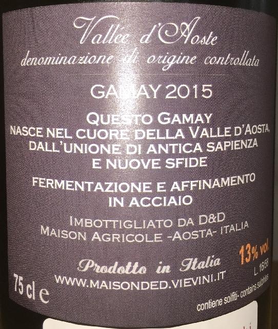 Vallee dAosta Gamay DD 2015 part2