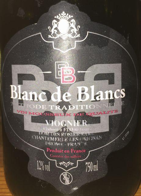 Blanc de Blancs Methode Tradisionnelle Vin Mousseux de Qualite Viognier