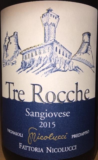 Tre Rocche Romagna Sangiovese Superiore Fattoria Nicolucci 2015 part1