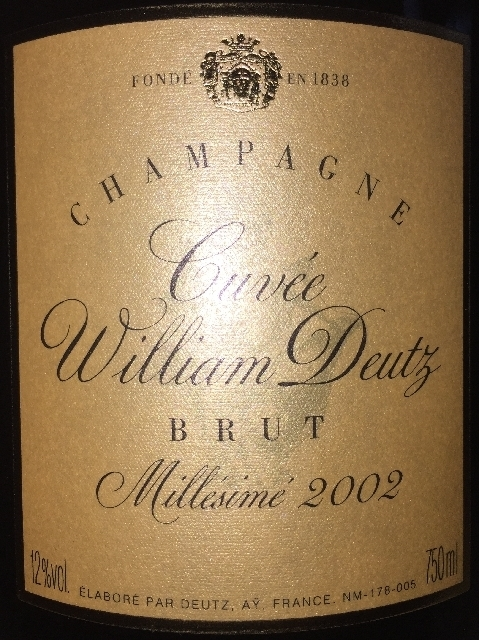 Cuvee William Deutz Brut Millesime 2002