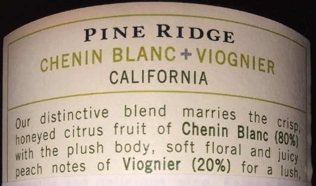 Pine Ridge Chenin Blanc_Viognier
