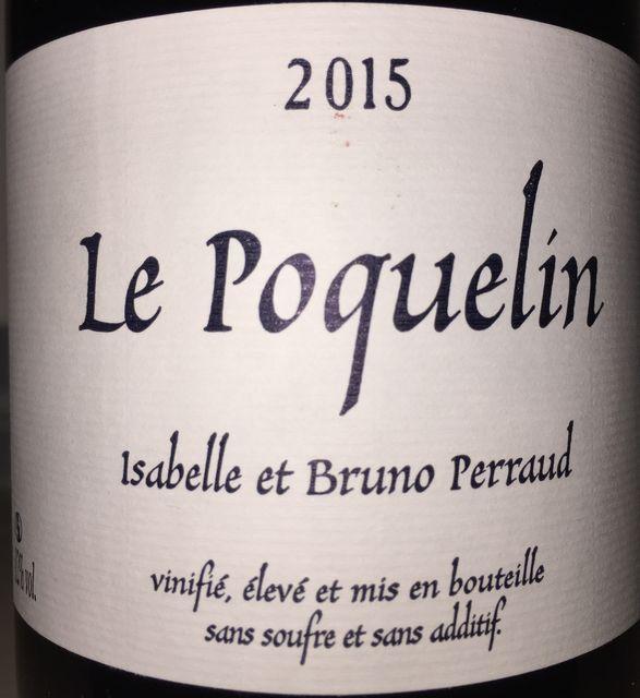Le Poquelin Bruno Perraud Cotes de la Moliere 2015