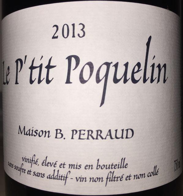 Le Ptit Poquelin Bruno Perraud Cotes de la Moliere 2013