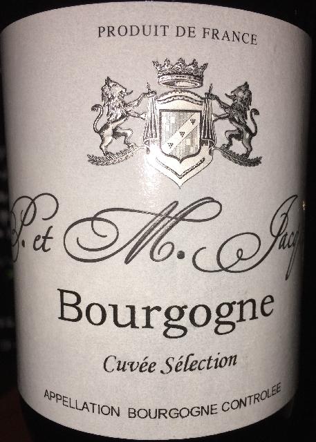 Bourgogne Cuvee Selection S et M Jacqueson 2015 part1