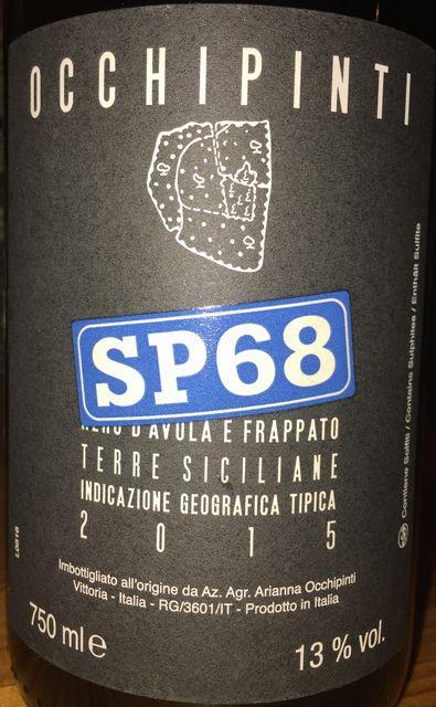 SP68 Occhipiniti Terre Siciliane 2015