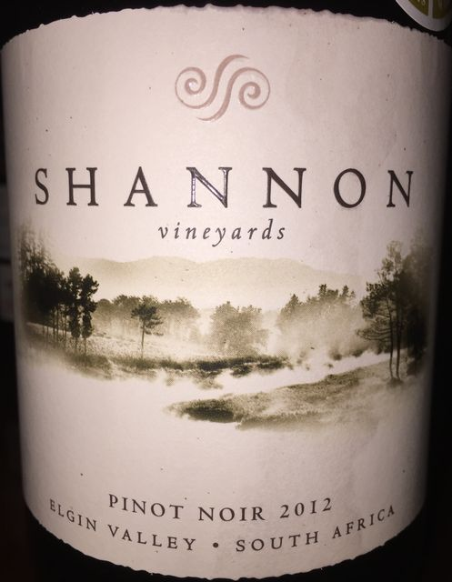 Shannon Vineyards Pinot Noir Elgin Valley 2012 part1