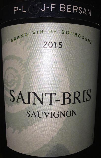 Saint Bris Sauvignon J F Bersan 2015 part1
