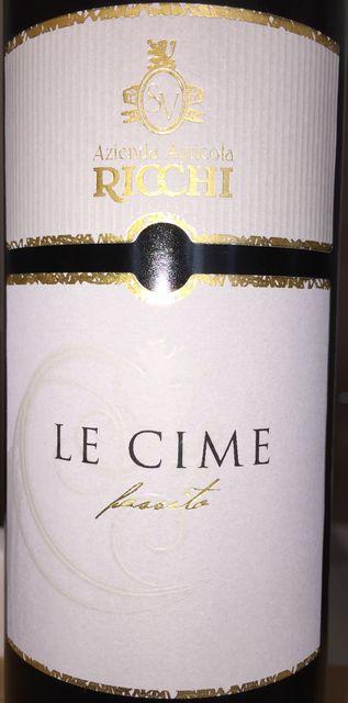 RICCHI Alto Mincio IGT Passito Bianco Le Cime 2011