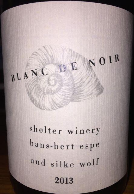 Blanc de Noir Shelter Winery Hans-bert espe und silke wolf 2013 part1