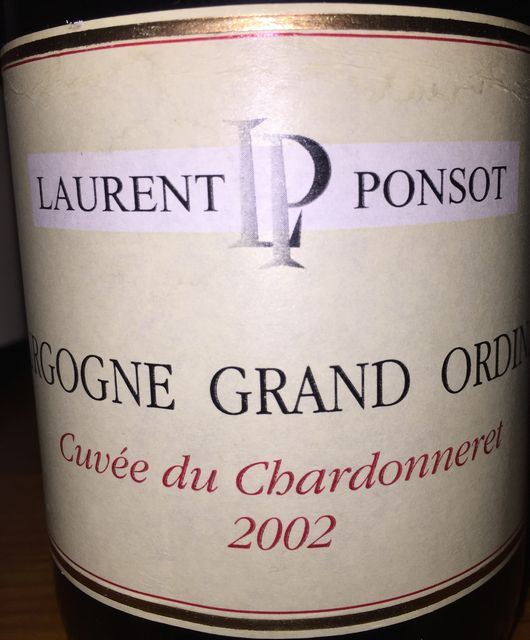 Bourgogne Grand Ordinare Cuvee du Chardonneret Laurent Ponsot 2002