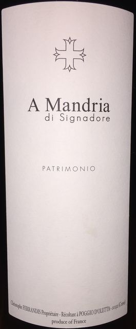 A Mandria di Signadore Patrimonio Domaine du Clos Signadore 2015 part1