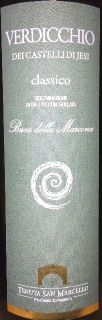 Verdicchio Dei Castelli di Jesi Classico Buca della Marcona Tenuta San Marcello 2016 part1