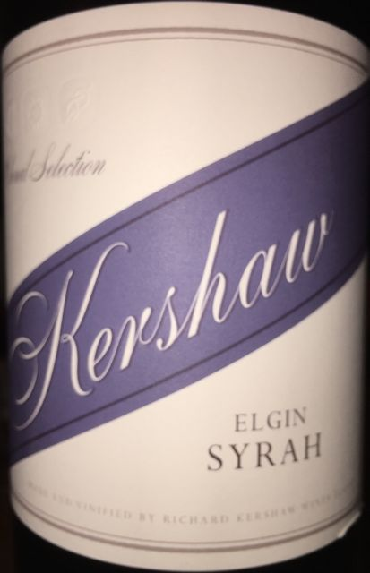 Kershaw Clonal Selection Elgin Syrah 2014
