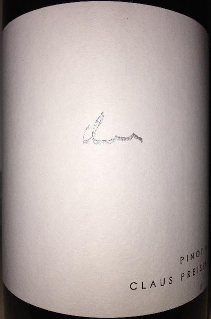 Pinot Noir Claus Preisinger 2015 part1
