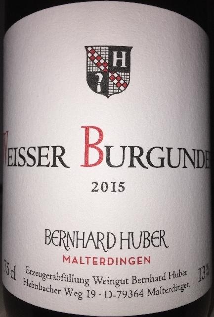 Huber Weisser Burgunder 2015