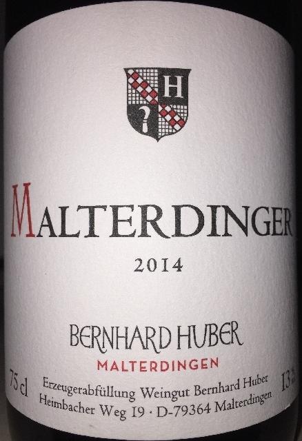 Huber Malterdinger Spatburgunder 2014